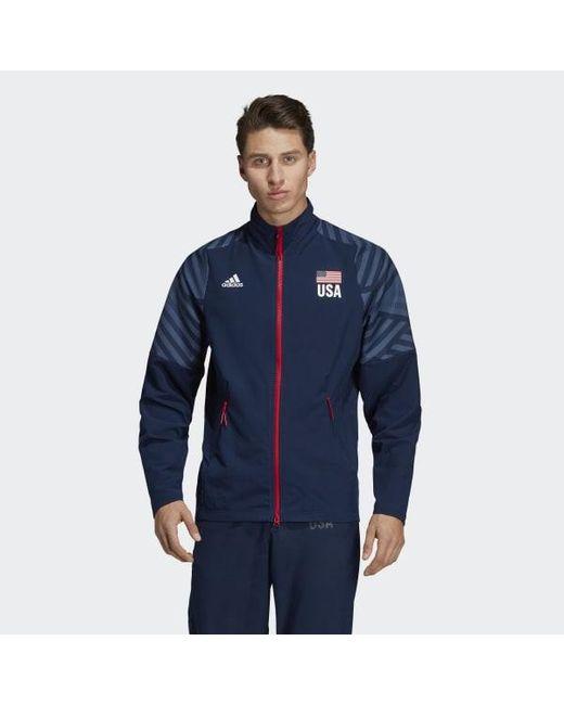 1aea389a11 Men's Blue Usa Volleyball Jacket