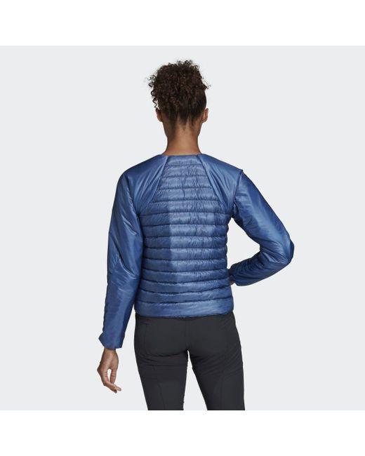 Adidas Blue TERREX Hike Daunen-Bomberjacke