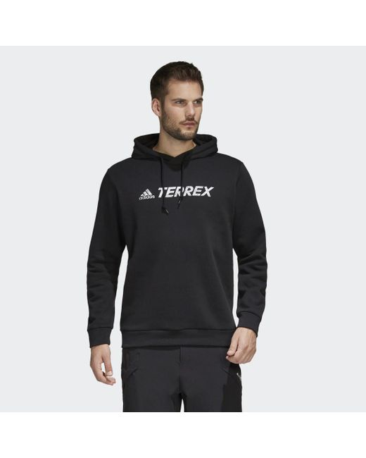 Felpa con cappuccio Terrex Graphic Logo di Adidas in Black da Uomo
