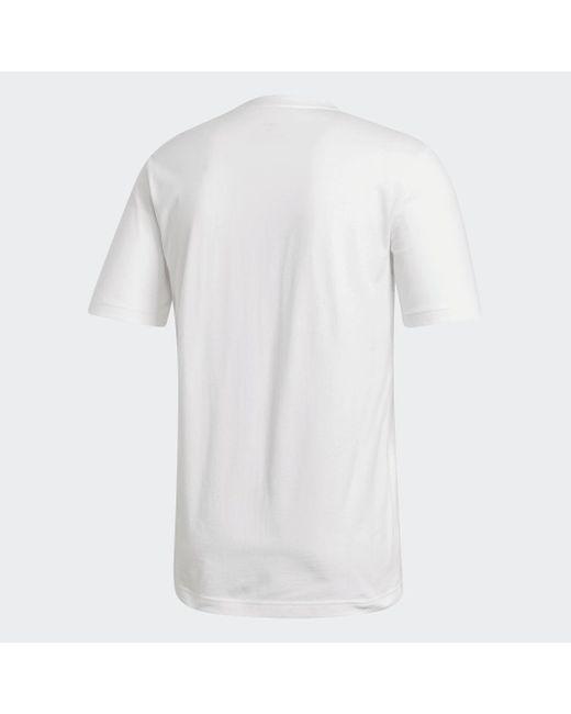 """Adidas T-Shirt """"Essentials Linear Logo"""" in White für Herren"""