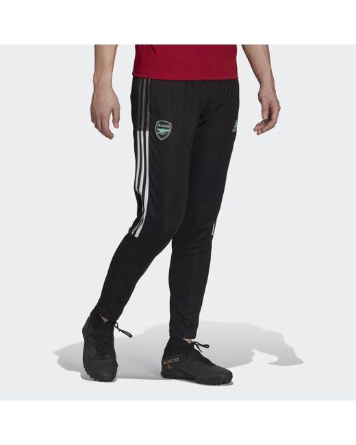 Pantalón entrenamiento Arsenal Tiro Adidas de hombre de color Black