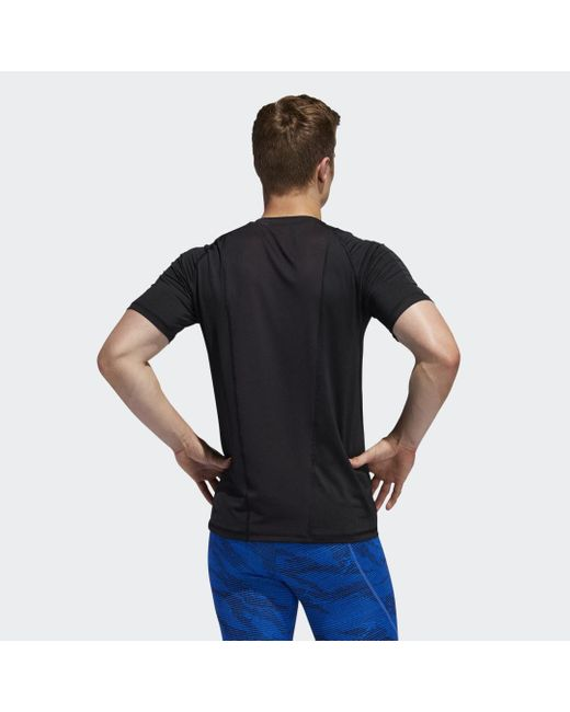 T-shirt Alphaskin Graphic Adidas pour homme en coloris Black