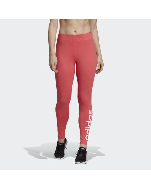 Women's Pink Essentials Linear Leggings
