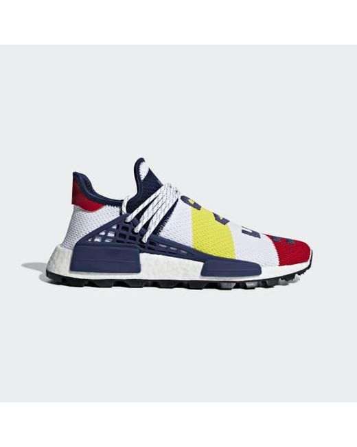 2776164d3 Adidas - White Pharrell Williams Bbc Hu Nmd Shoes for Men - Lyst ...