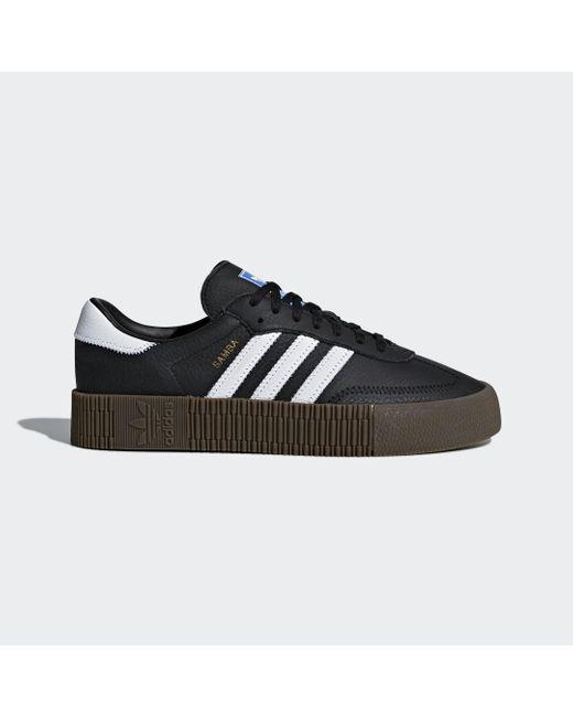 Adidas Black 'Sambarose' Sneakers