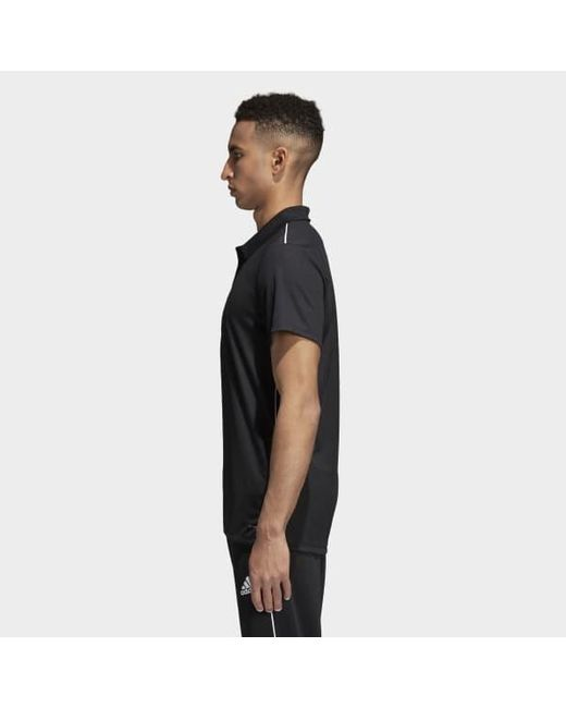 97bd16a7dc4a8 adidas Core 18 Climalite Polo Shirt in Black for Men - Lyst