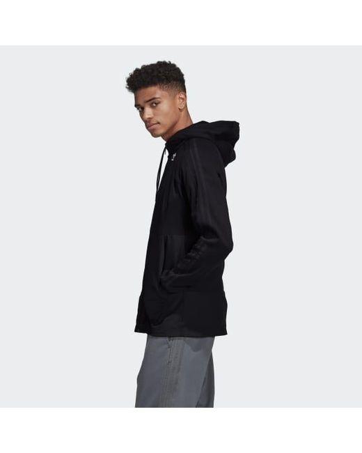 release date c4200 148f1 ... Adidas - Adidas Fullzip Hoodie Black for Men - Lyst ...