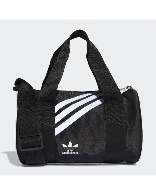 Mini sac en toile Nylon Adidas en coloris Black