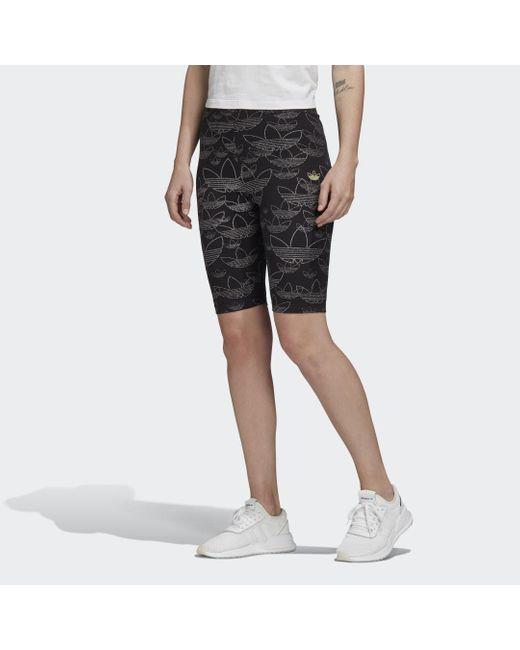 Adidas Allover Print Legging in het Black