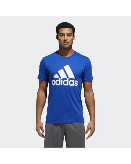Adidas - Blue Badge Of Sport Classic Tee for Men - Lyst ... 7a259a3c7