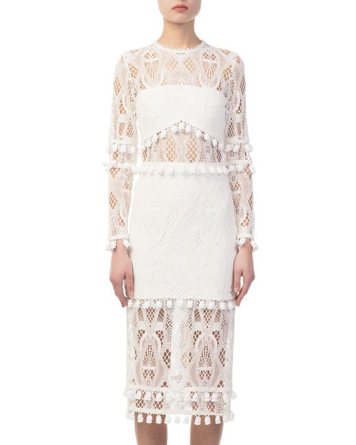Alexis - Callie Embroidered White Dress - Lyst