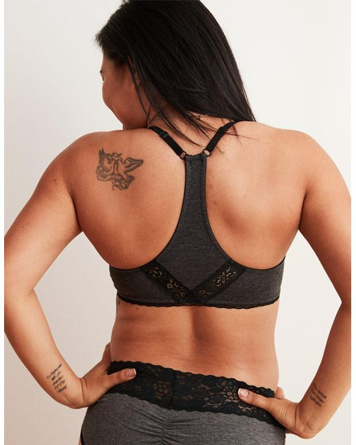 7a0e6d85ca ... American Eagle - Black Real Happy Demi Push Up Bra - Lyst ...