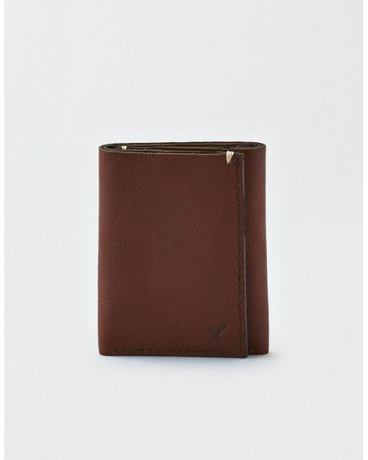 American Eagle - Brown Ae Trifold Wallet for Men - Lyst