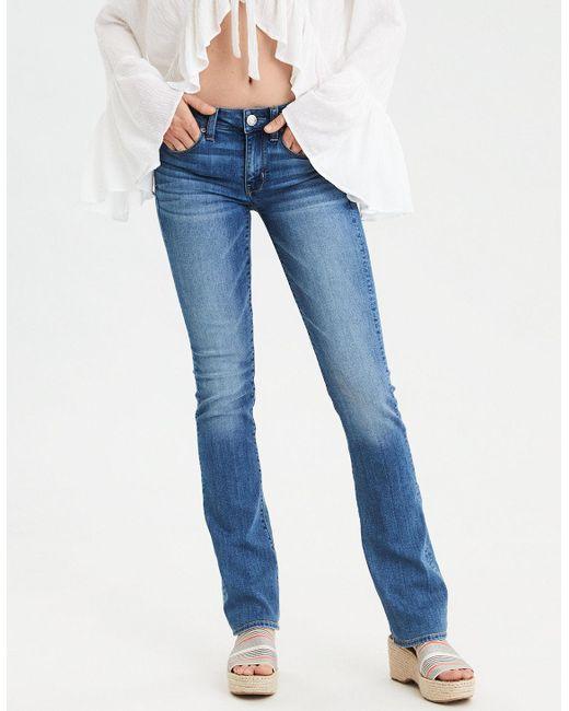 American Eagle - Blue Skinny Kick Jean - Lyst