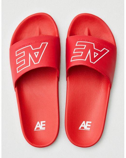c687227aeaef American Eagle - Red Slide Sandal for Men - Lyst ...