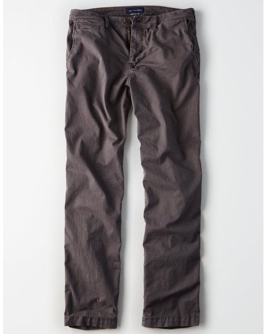 861f2e18 ... American Eagle - Gray Ae Ne(x)t Level Relaxed Straight Khaki Pant for  ...