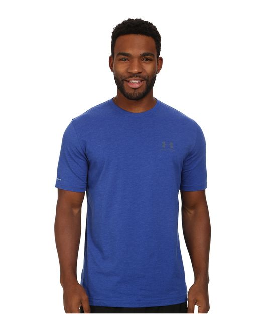 Under Armour | Blue Charged Cotton® Left Chest Lockup for Men | Lyst