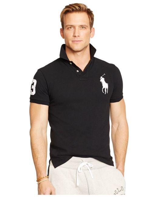 Polo Ralph Lauren Men 39 S Custom Fit Big Pony Mesh Polo