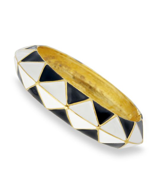 Kenneth Jay Lane | Black And White Bangle | Lyst