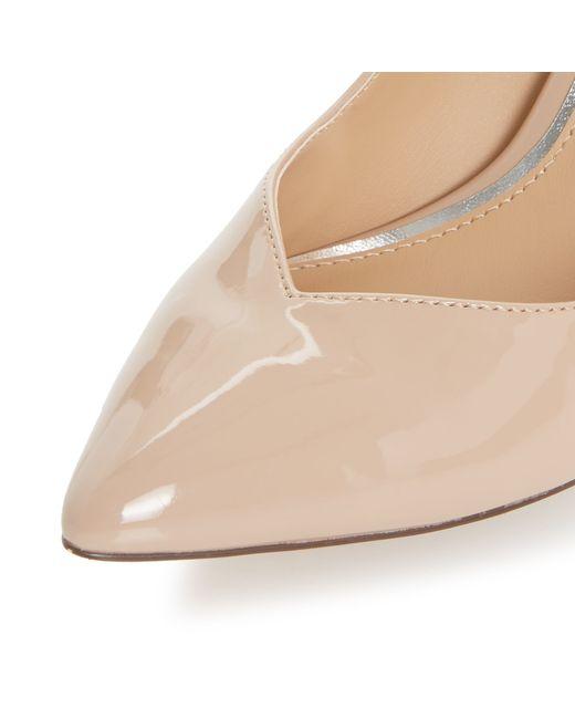Linea Abette Mid Heel Court Shoes In Beige Nude  Lyst-5376