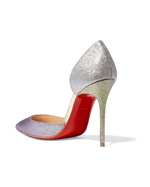 what are red bottom shoes for men - Christian louboutin Iriza Glitter Ombr�� Half D\u0026#39;Orsay Pumps in ...