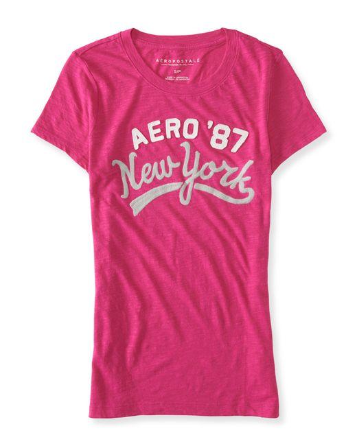 Aéropostale | Pink New York Script Graphic T | Lyst