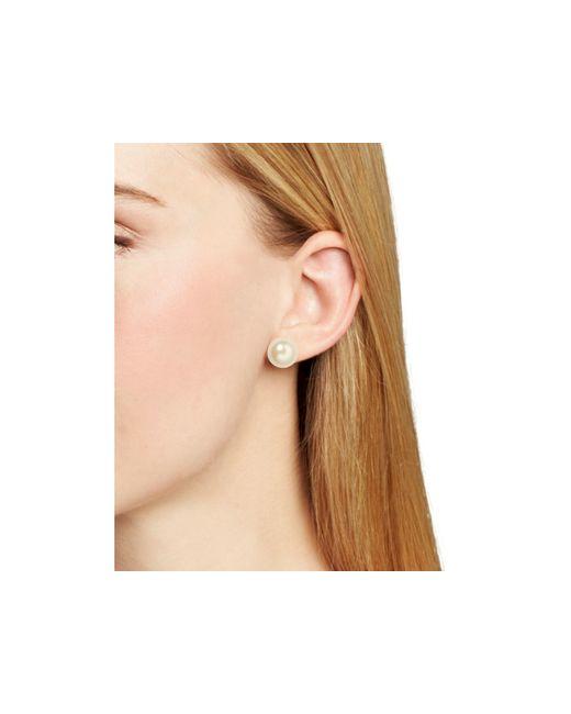 Carolee | White Faux Pearl Stud Earrings | Lyst