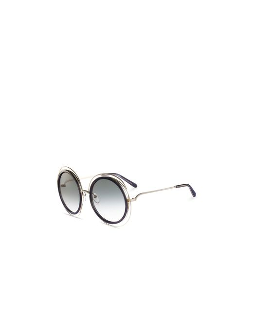 Chloé | Metallic Carlina Oversized Round Sunglasses, 58mm | Lyst