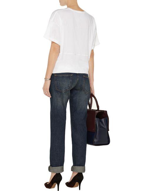 Victoria beckham Mid-rise Boyfriend Jeans in Blue (Dark denim) - Save 60% | Lyst