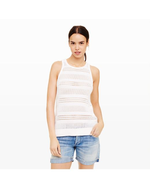 Club Monaco | White Katie Sweater Tank | Lyst