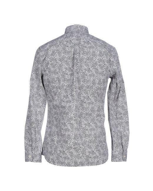 DIESEL   Black Floral Print Shirt for Men   Lyst