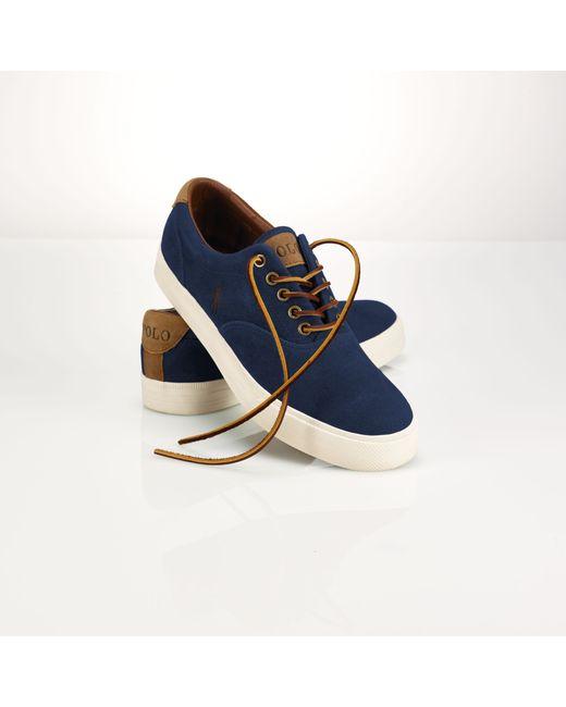 Polo Ralph Lauren | Blue Suede Vaughn Sneaker for Men | Lyst