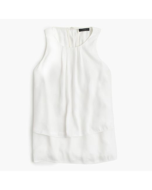 J.Crew | White Tiered Crepe Top | Lyst