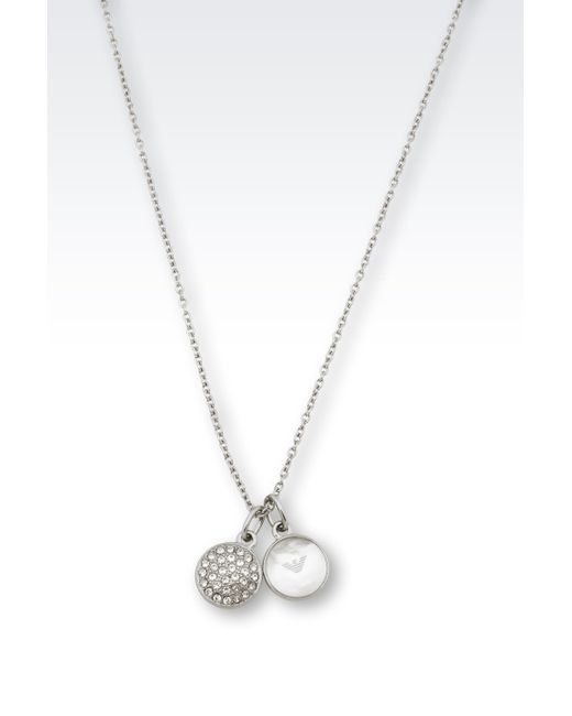 emporio armani necklace with crystals and of pearl