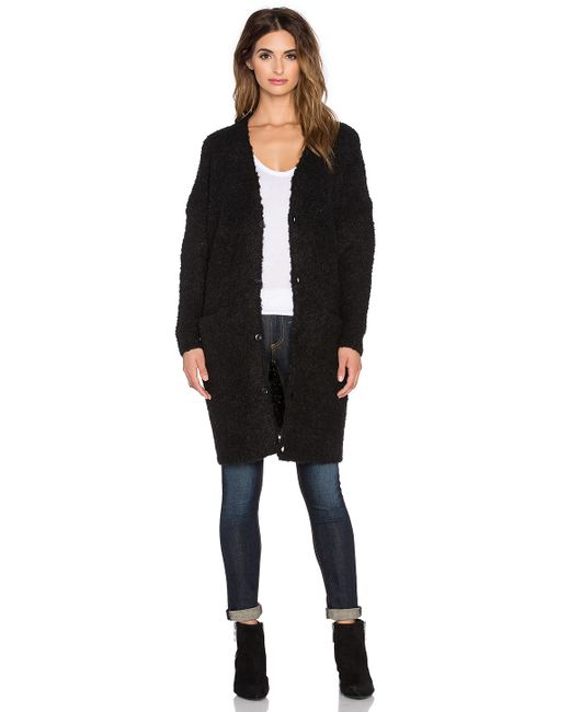 g star raw hele long cardigan in black save 54 lyst. Black Bedroom Furniture Sets. Home Design Ideas