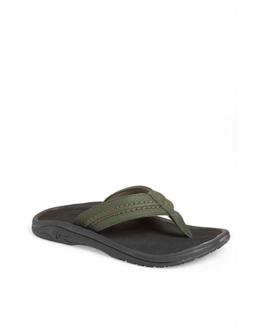 Olukai | Green 'hokua' Flip Flop for Men | Lyst