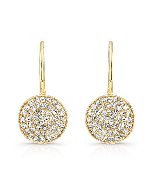 Anne Sisteron | Metallic 14kt Yellow Gold Diamond Disc Earrings | Lyst