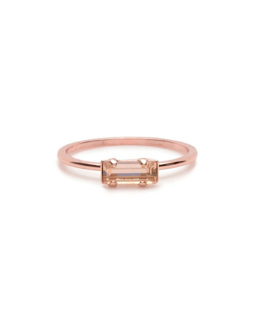 Bing Bang | Pink Tiny Baguette Ring | Lyst