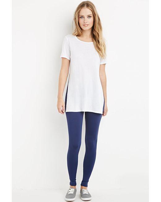 Forever 21   Blue Nylon-blend Leggings   Lyst