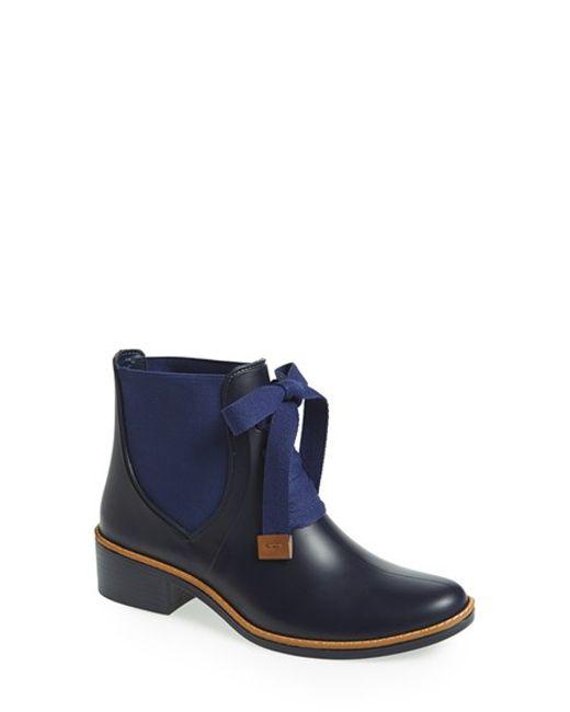 Bernardo | Blue 'Lacey' Short Waterproof Rain Boot | Lyst