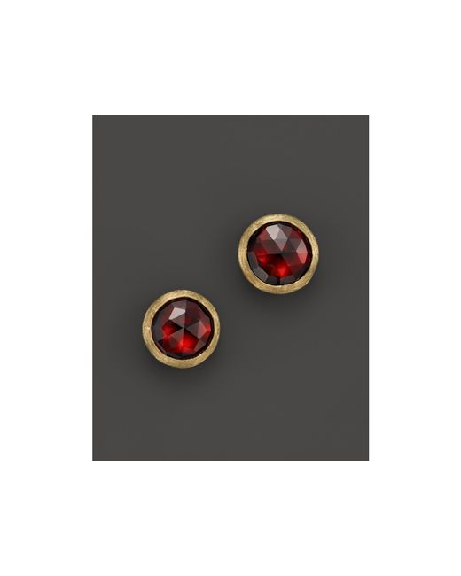 Marco Bicego | Metallic 18k Yellow Gold Jaipur Garnet Stud Earrings | Lyst