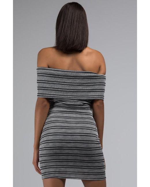 45b41ad3da57 ... Akira - Black Wont Keep Us Apart Strapless Bodycon Mini Dress - Lyst ...