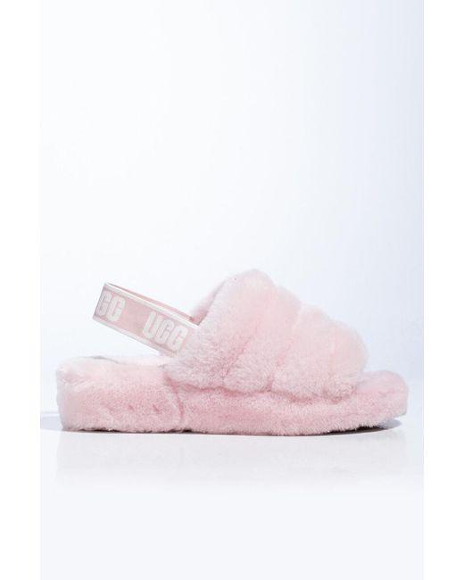 Ugg Pink Fluff Yeah Sheepskin Slingback Slippers