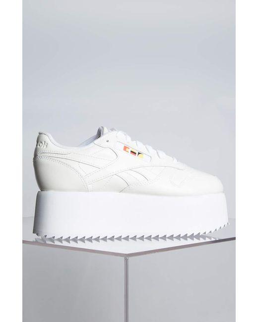... Reebok - Gigi Hadid X Cl Leather Platform Sneaker In White Patent - Lyst  ... c083ffea2