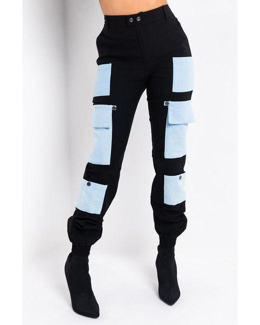 Akira Black Paris Cargo Pants