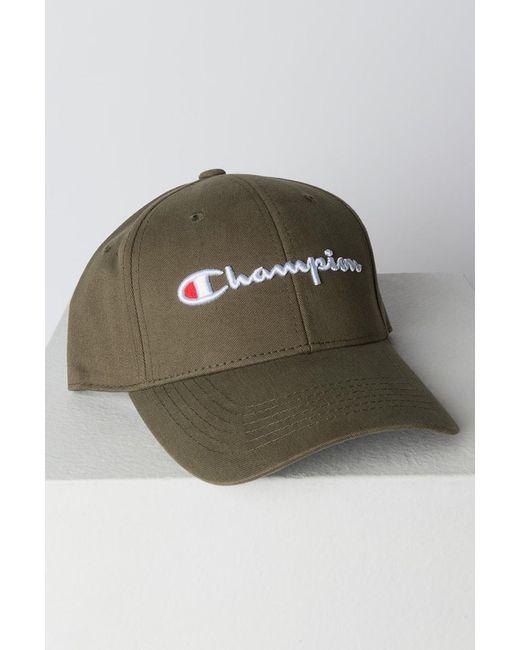 Champion - Green Classic Twill Hat for Men - Lyst