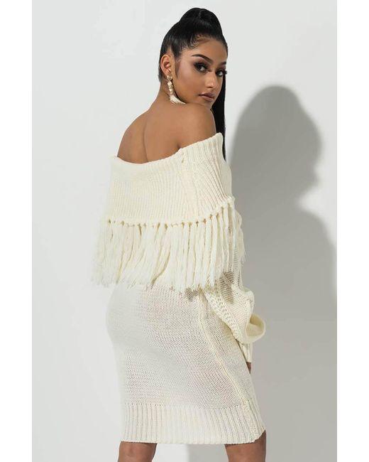 68beb7aee4d7 ... Akira - White All Day Sweater Dress - Lyst ...