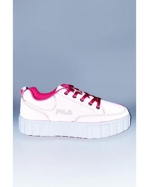 hot pink fila sneakers
