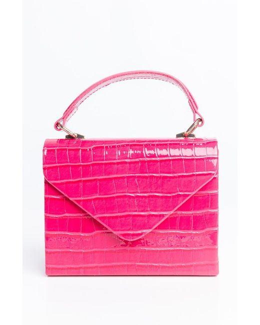 Akira Pink Werk It Fuchsia Croc Purse