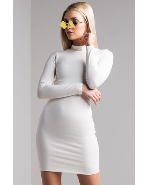 Akira - White All Tied Up Mini Dress - Lyst